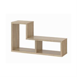 2 Shelf Bookcase in Oak Structure
