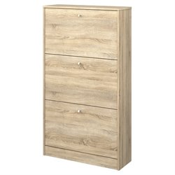 3 Drawer Shoe Cabinet in Oak Structure