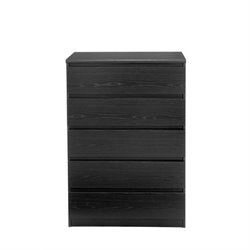 5 Drawer Chest in Black Woodgrain