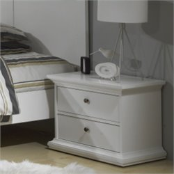 Tvilum Sonoma 2 Drawer Nightstand in White