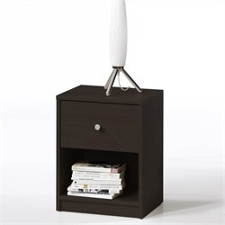 Tvilum Portland 1 Drawer Nightstand in Coffee