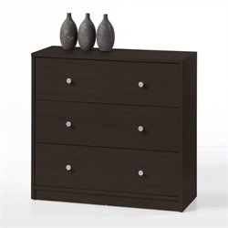 Tvilum Portland 3 Drawer Chest in Coffee
