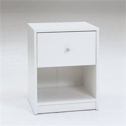 Tvilum Portland 1 Drawer Nightstand in White