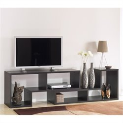Bookcase TV Stand in Coffee