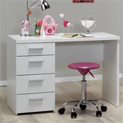 Four Drawer Desk in White