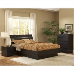 Platform 3 Piece Bedroom Set in Coffee