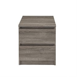 2 Drawer Nightstand in Truffle