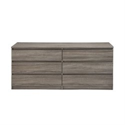 6 Drawer Chest in Truffle