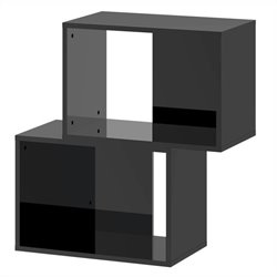 Stackable Bookcase in Black High Gloss