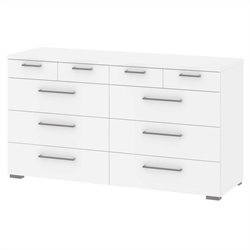 10 Drawer Chest in White
