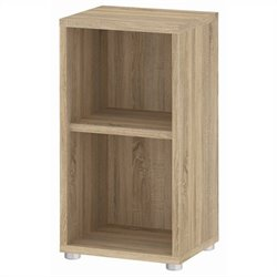 2 Shelf Narrow Bookcase in Oak Structure