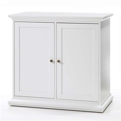 Double Door Cabinet with 2 Shelves in White