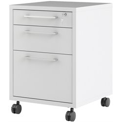 3 Drawer Mobile Filing Cabinet in White