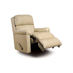 Lane Furniture Timeless Leather Match Recliner in Bone