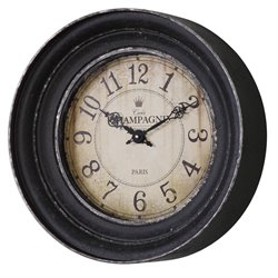Uttermost Melania Wall Clock in Aged Black