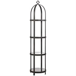 Uttermost Welch 4 Shelf Etagere in Industrial Iron