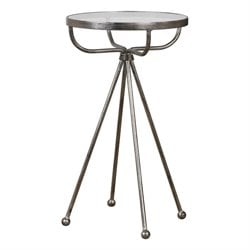 Uttermost Santee Accent Table in Silver