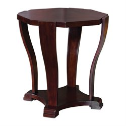 Uttermost Pallavi Octagon End Table in Dark Hickory