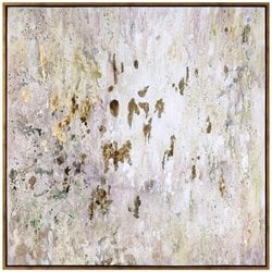 Uttermost Golden Raindrops Modern Abstract Art in Gold Leaf