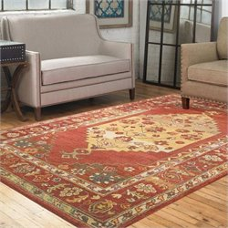Uttermost Estelle Rug in Dark Red