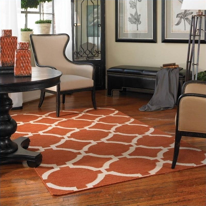 Bermuda Wool Rug in Burnt Sienna