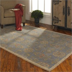 Uttermost Favara Wool Rug in Blue Slate