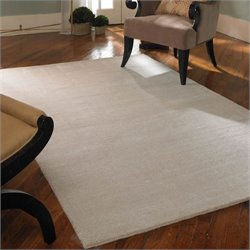 Uttermost Rhine Wool Rug in Cloud White