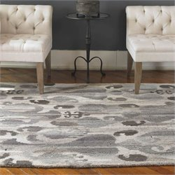 Uttermost Sepino Wool Rug in Gray