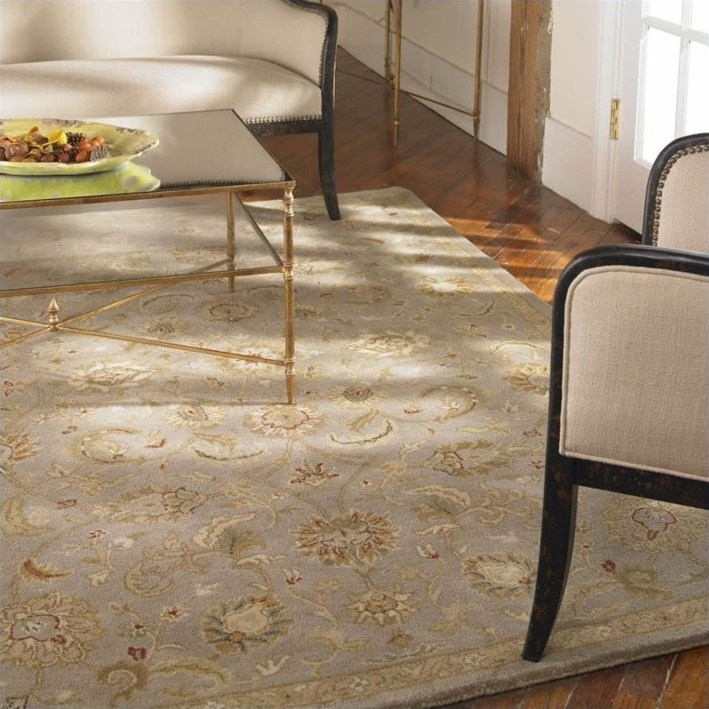 Uttermost Torrente Rug in Light Gray and Beige