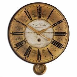 Uttermost Louis Leniel Cream and Gold Wall Clock