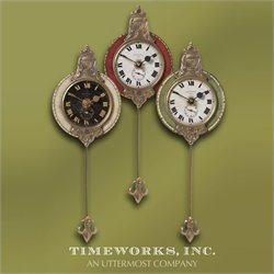 Uttermost Monarch Cast Brass Wall Clock (Set of 3)