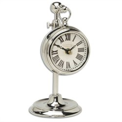 Uttermost Pocket Watch in Nickel Marchant Cream