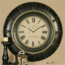 Uttermost Rudy Clock in Rustic Black