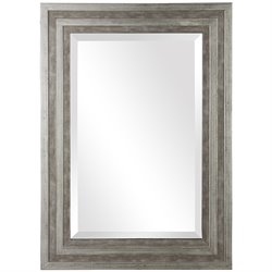 Uttermost Hallmar Wood Mirror in Distressed Silver Leaf