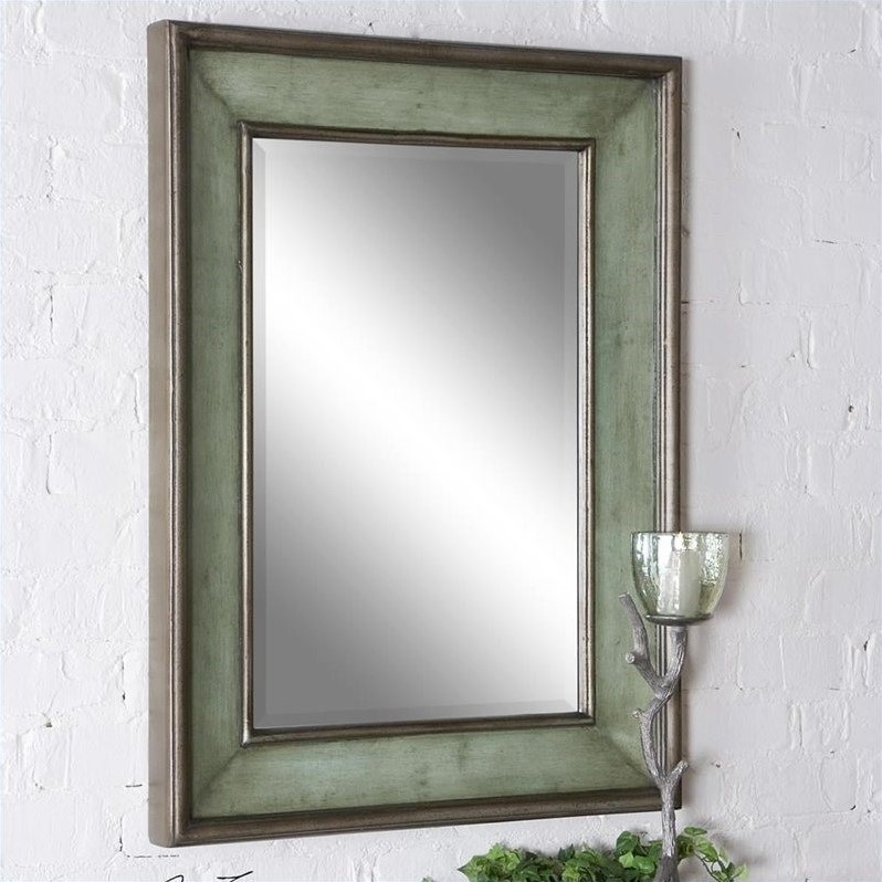 Uttermost Ogden Mirror in Hand Rubbed Sky Blue