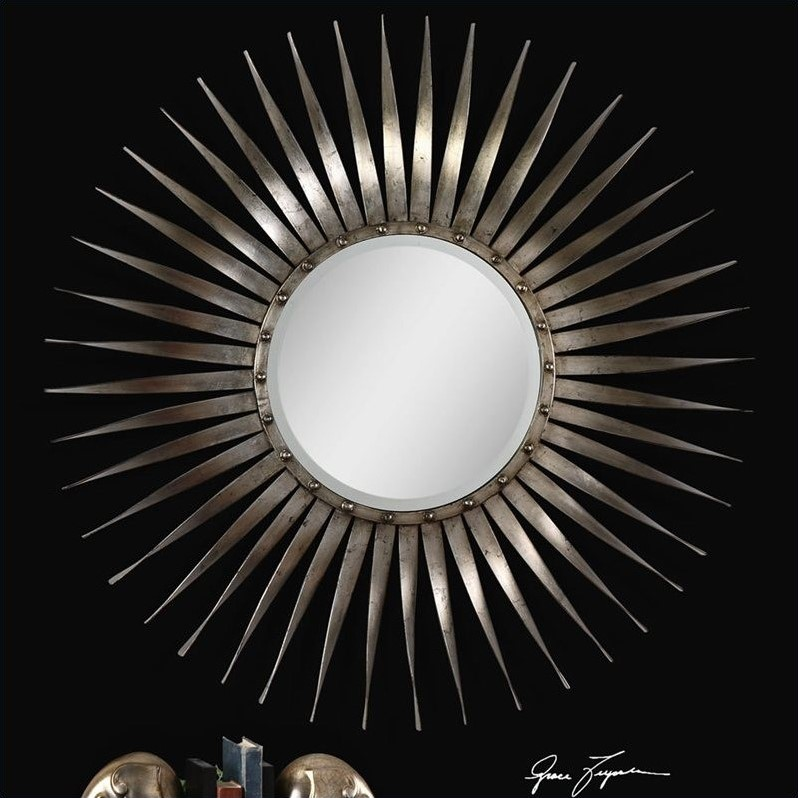 Uttermost Sedona Ray Mirror in Antiqued Silver