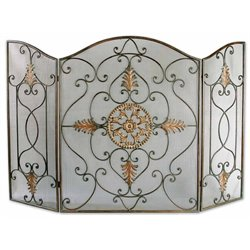 Uttermost Egan Fireplace Screen in Wrought Iron