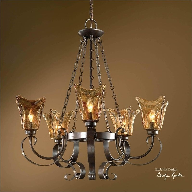 Uttermost Vetraio 5 Light Chandelier in Oil Rubbed Bronze