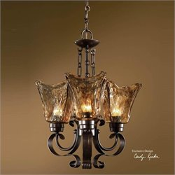 Uttermost Vetraio 3 Light Chandelier in Oil Rubbed Bronze