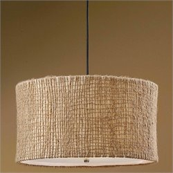 Uttermost Burleson 3 Light Natural Twine Drum Pendant