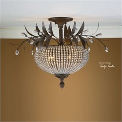 Uttermost Cristal De Lisbon Crystal Semi Flush Mount Light