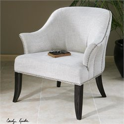 Uttermost Leisa Alabaster White Armchair in Black