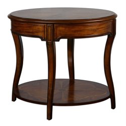 Uttermost Corianne End Table in Hand Rubbed Pecan