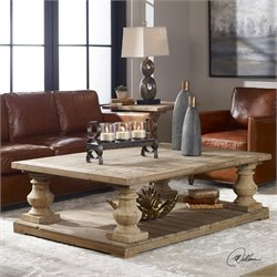 Uttermost Stratford Coffee Table in Stony Gray Wash