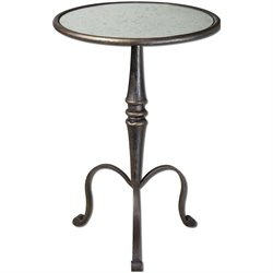 Uttermost Anais Mirrored Accent Table in Coffee Bronze