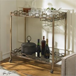 Uttermost Nicoline Iron Serving Cart with Casters
