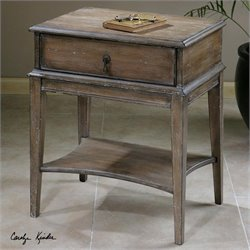 Uttermost Hanford Weathered Pine Accent Table