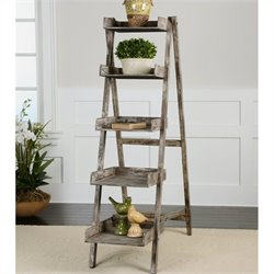 Uttermost Annileise Bookshelf in Sun-Faded Weathered Charcoal