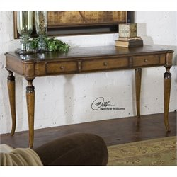 Uttermost Colter Distressed Solid Wood Writing Desk in Honey Stained