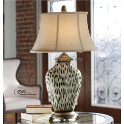 Malawi Cheetah Print Ceramic Table Lamp